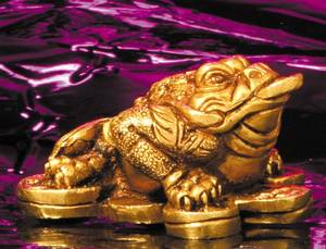 Bilde av Three-legged Money Frog Brass